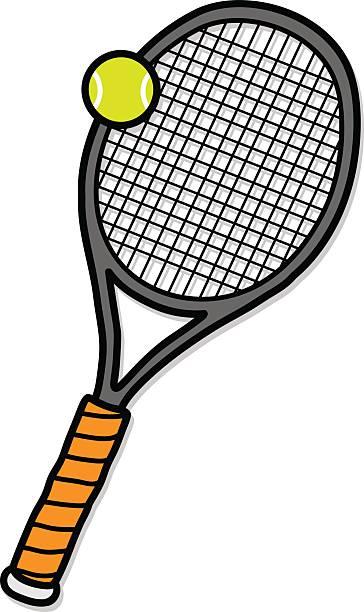 Dessin raquette tennis vecteurs et illustrations libres de - Dessin raquette ...