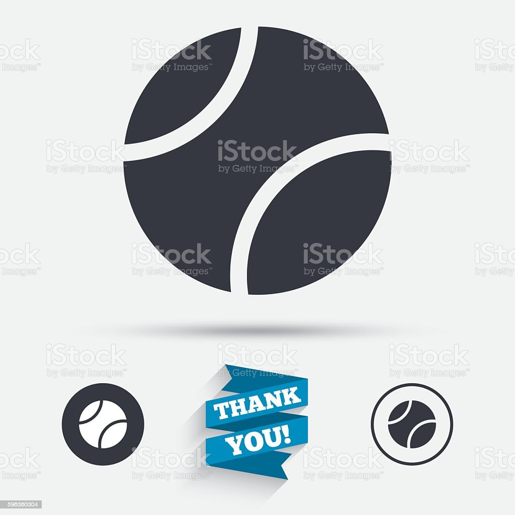 Tennis ball sign icon. Sport symbol. royalty-free tennis ball sign icon sport symbol stock vector art & more images of badge