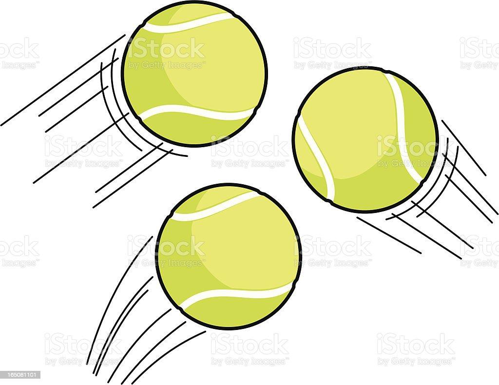 Tennis Ball Swoosh vector art illustration