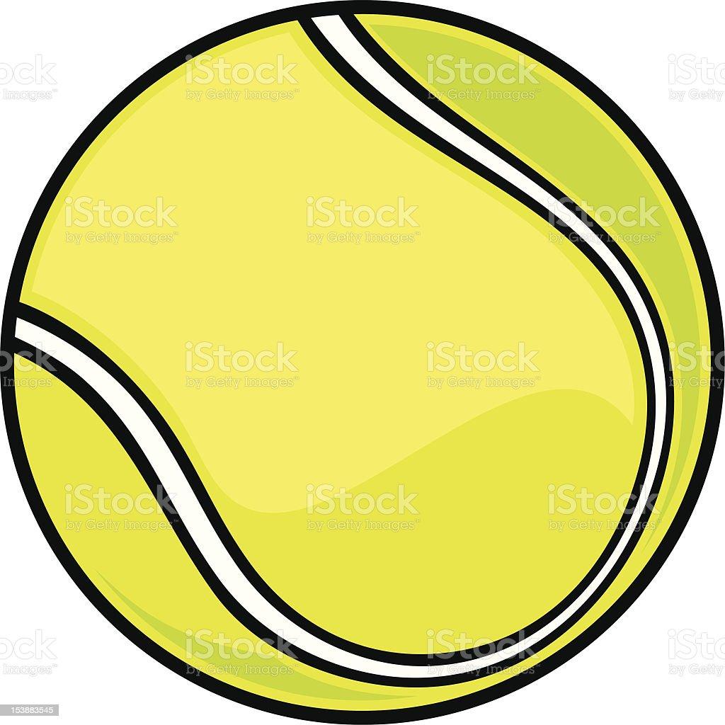 tennis ball vector art illustration
