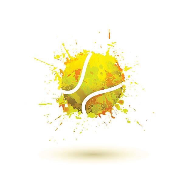 tennis ball - tennis stock illustrations, clip art, cartoons, & icons