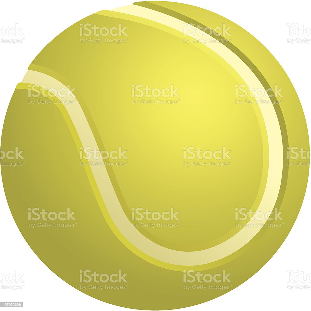 Tennis Ball royalty-free stock vector art