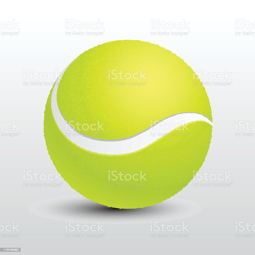 Tennis ball vector vector art illustration