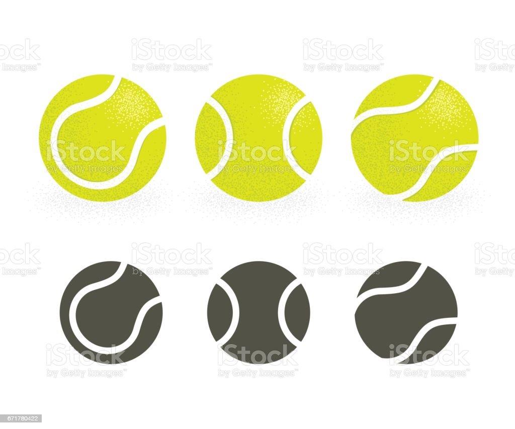Conjunto de bolas de tênis - ilustração de arte em vetor