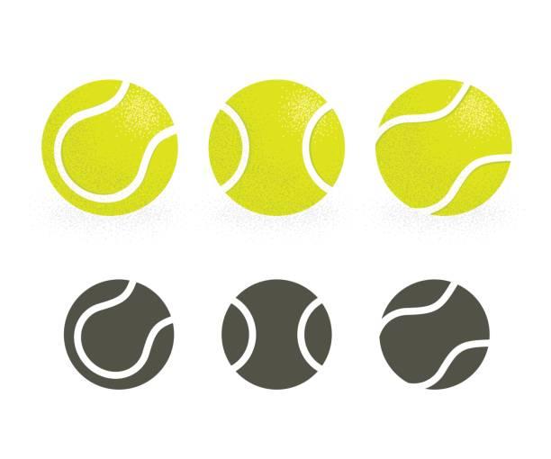 tennis balls set - tennis stock illustrations, clip art, cartoons, & icons