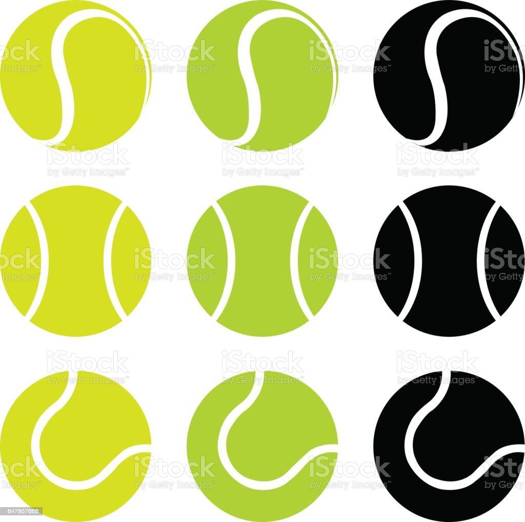 Tennis balls vector art illustration