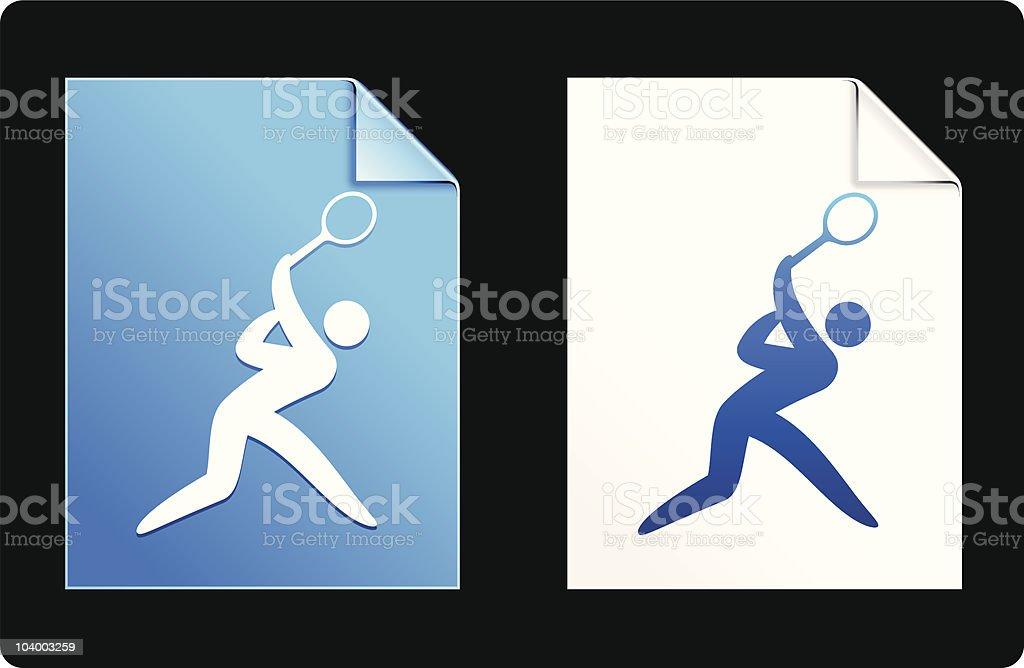 tennis blue design elements royalty-free stock vector art