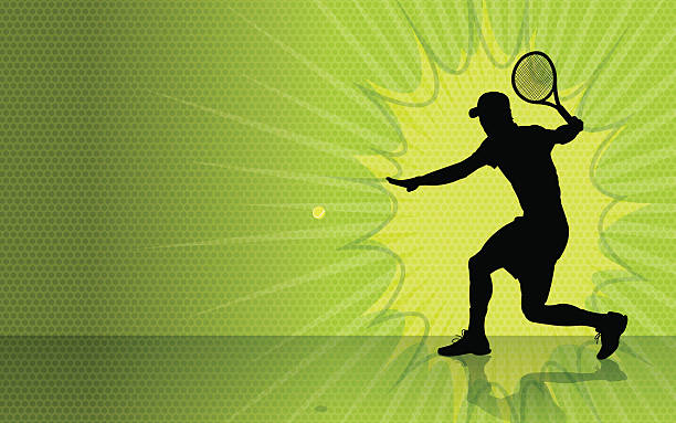 tennis burst hintergrund - wimbledon stock-grafiken, -clipart, -cartoons und -symbole