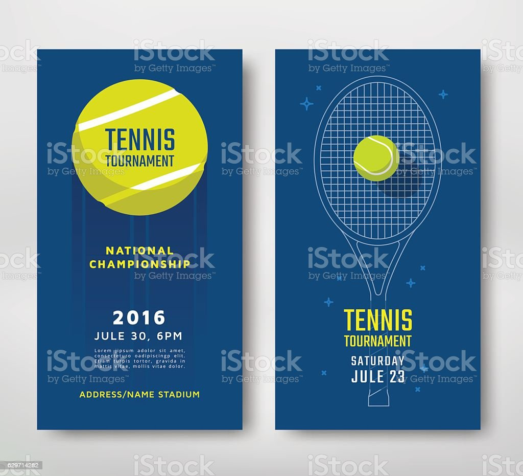 Tennis championship poster vector art illustration