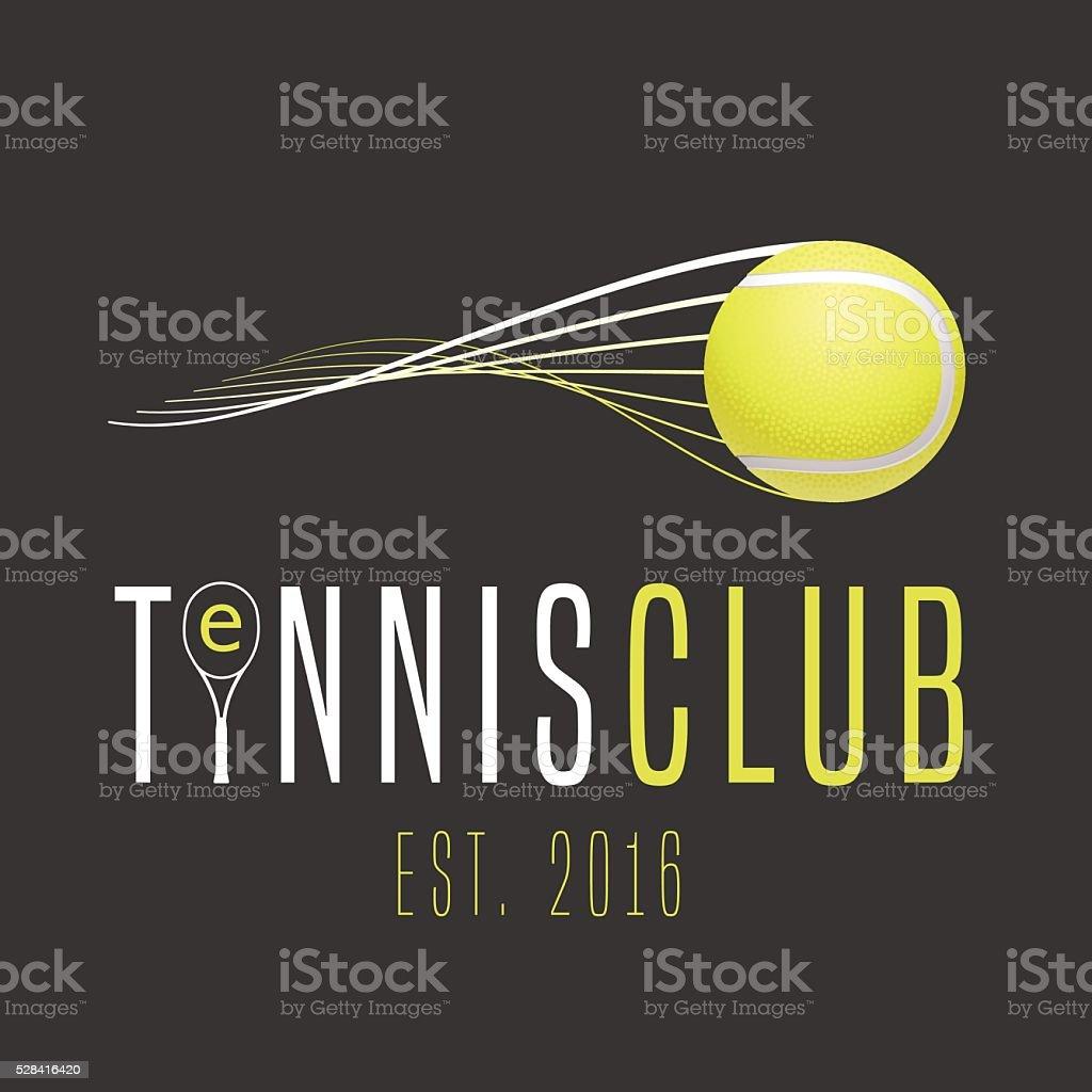 Tennis club vector emblem vector art illustration