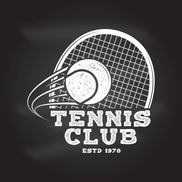 tennis club. vector illustration - tennis stock illustrations, clip art, cartoons, & icons