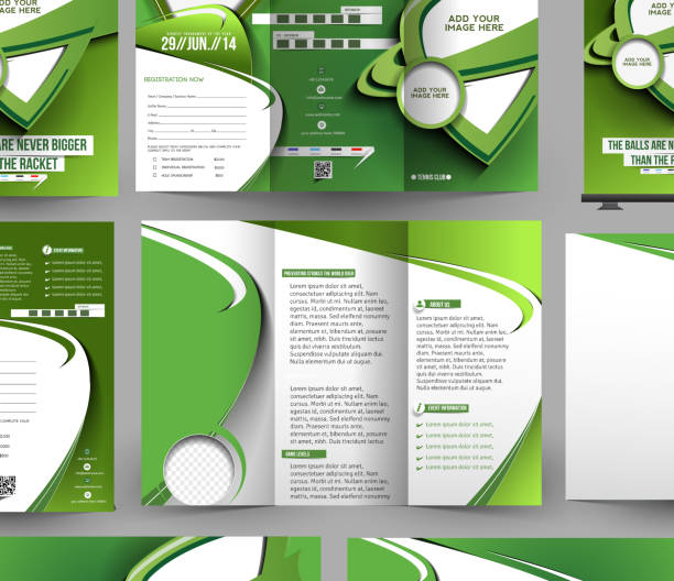 Royalty Free Abstract Football Flyer Template Design Clip Art