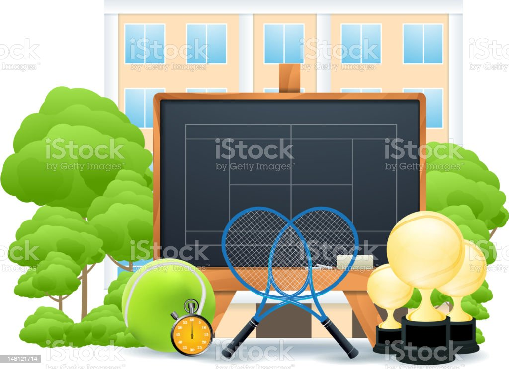 Tennis concept royalty-free tennis concept stock vector art & more images of ball