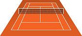Tennis Court (clay) brick dust stadium