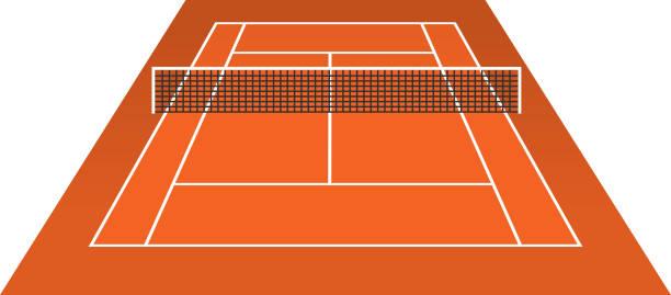 Terrain De Tennis Vecteurs et Illustrations Libres de Droits - iStock