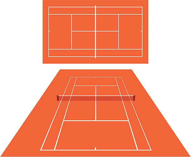 テニスコート dross - テニス点のイラスト素材/クリップアート素材/マンガ素材/アイコン素材