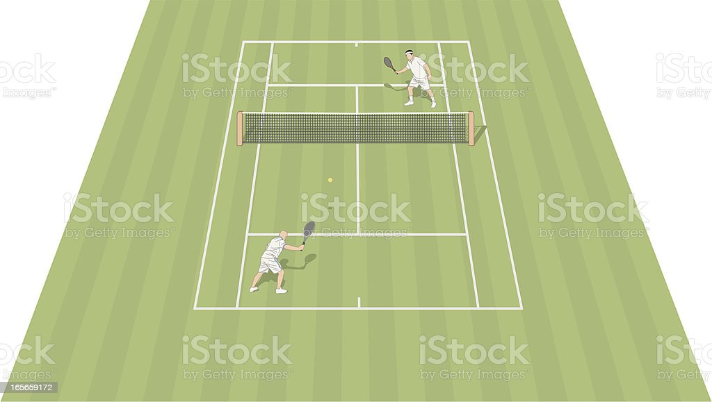 Tennis Court Grass royalty-free stock vector art