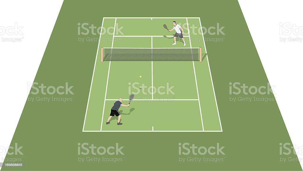 Tennis Court Hard vector art illustration