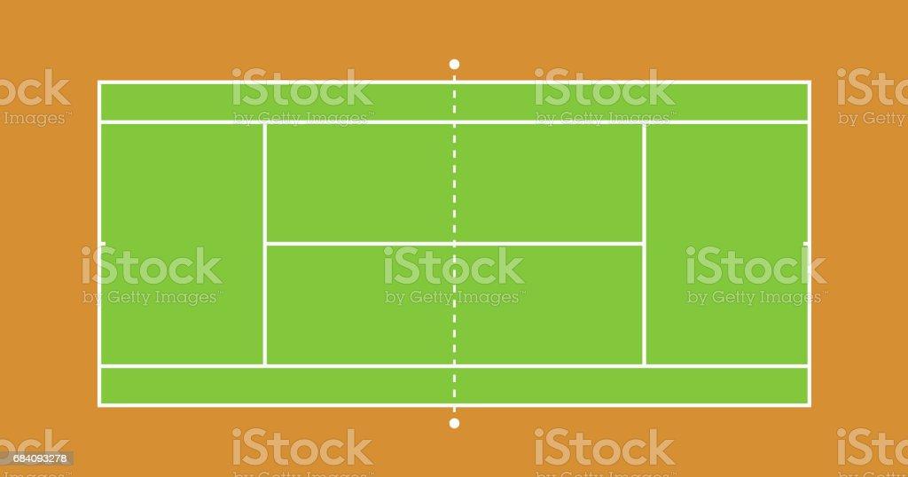 Tennis court illustration ベクターアートイラスト