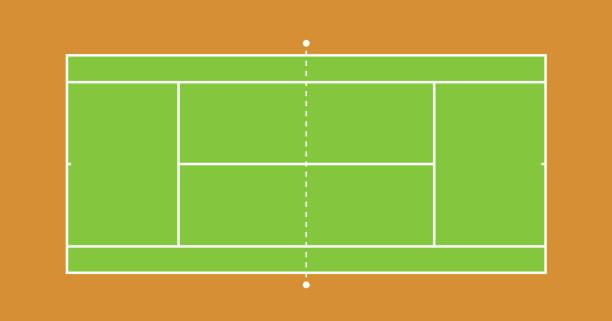 tennis court illustration - テニス点のイラスト素材/クリップアート素材/マンガ素材/アイコン素材