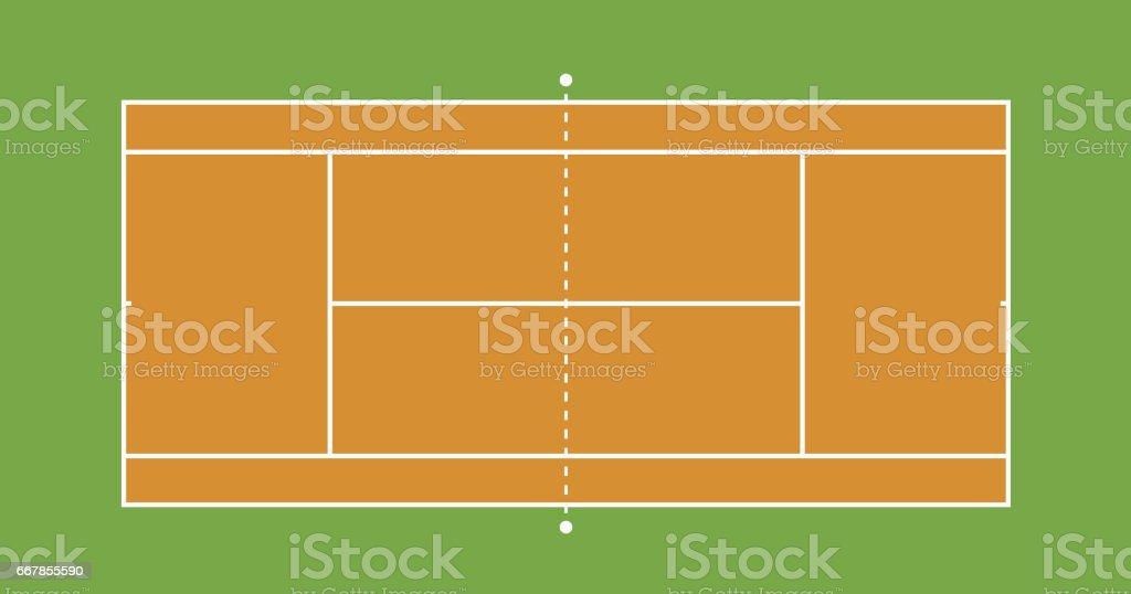 Tennis court illustration3 vector art illustration