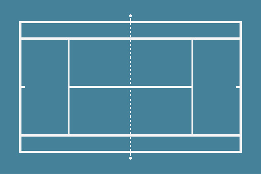 Tennis court. Mockup background field for sport strategy and poster. Vector