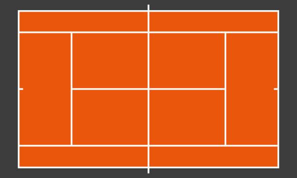 stockillustraties, clipart, cartoons en iconen met tennis baan of veld. realistisch bord voor tactiek plan. kleurrijke vector illustratie. - tennis