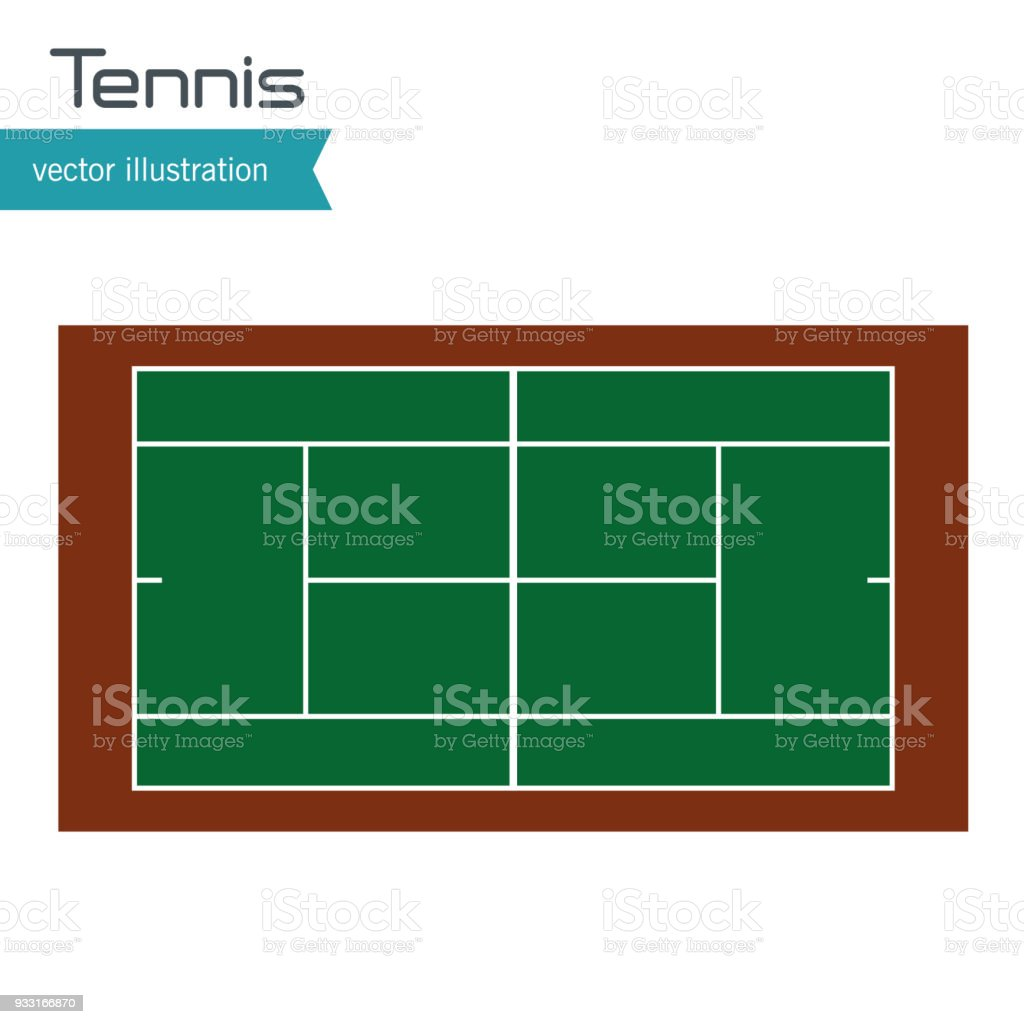 Tennis Court Top View Design Stock Illustration Download Image Now Istock