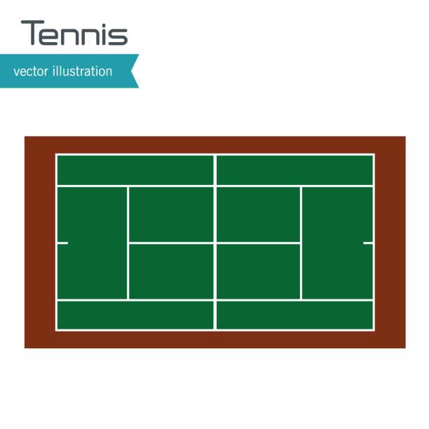 tennis court top view design - tennis stock illustrations, clip art, cartoons, & icons