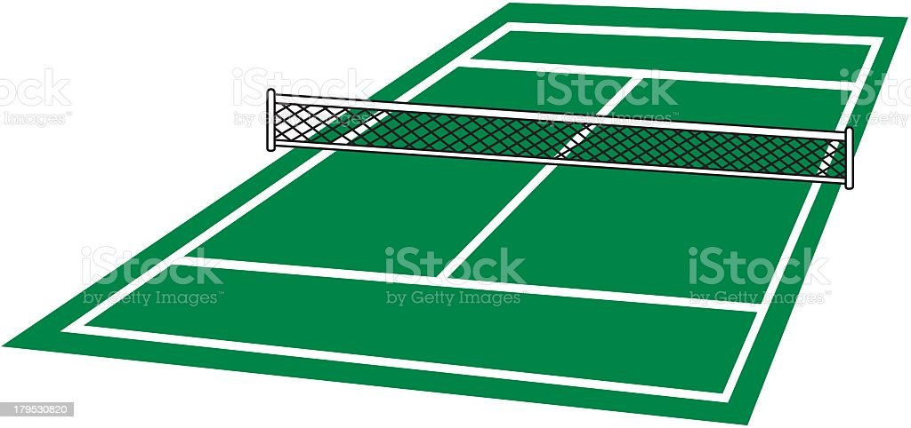 Tennis Court royalty-free tennis court stock vector art & more images of clip art