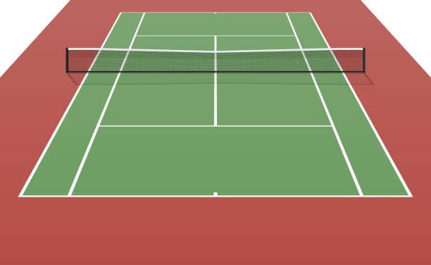 テニスコート - テニス点のイラスト素材/クリップアート素材/マンガ素材/アイコン素材