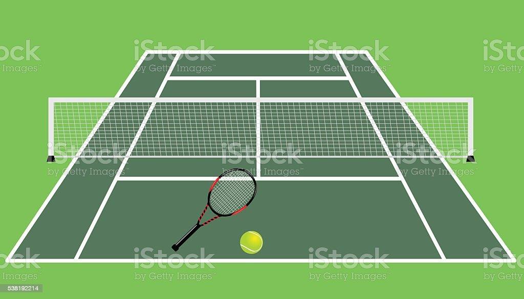 テニスコート イラストレーションのベクターアート素材や画像を多数ご