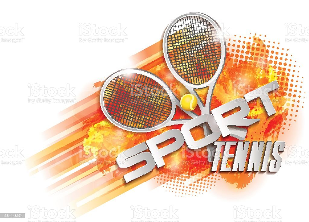 Tennis cup symbol vector art illustration