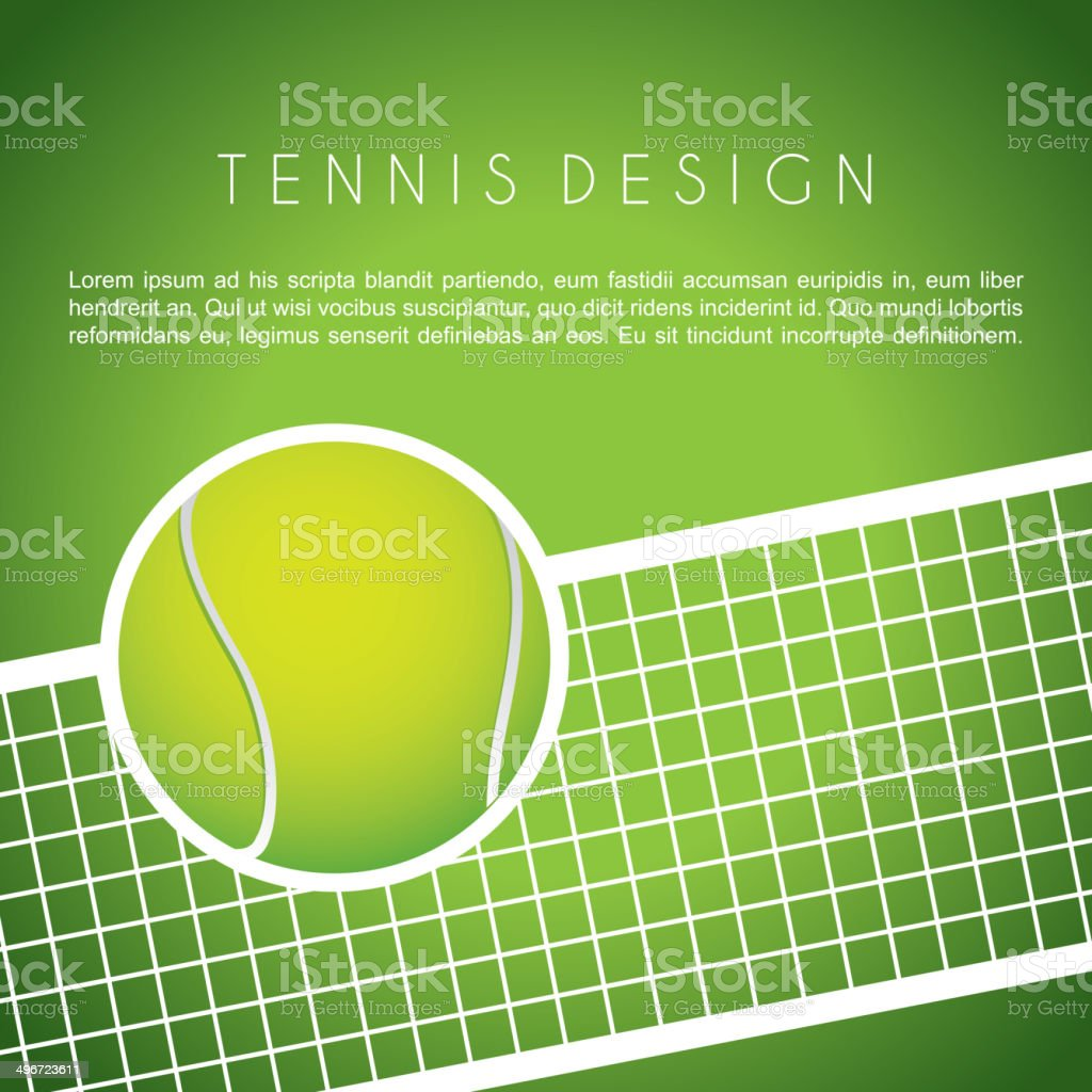 tennis design vector art illustration