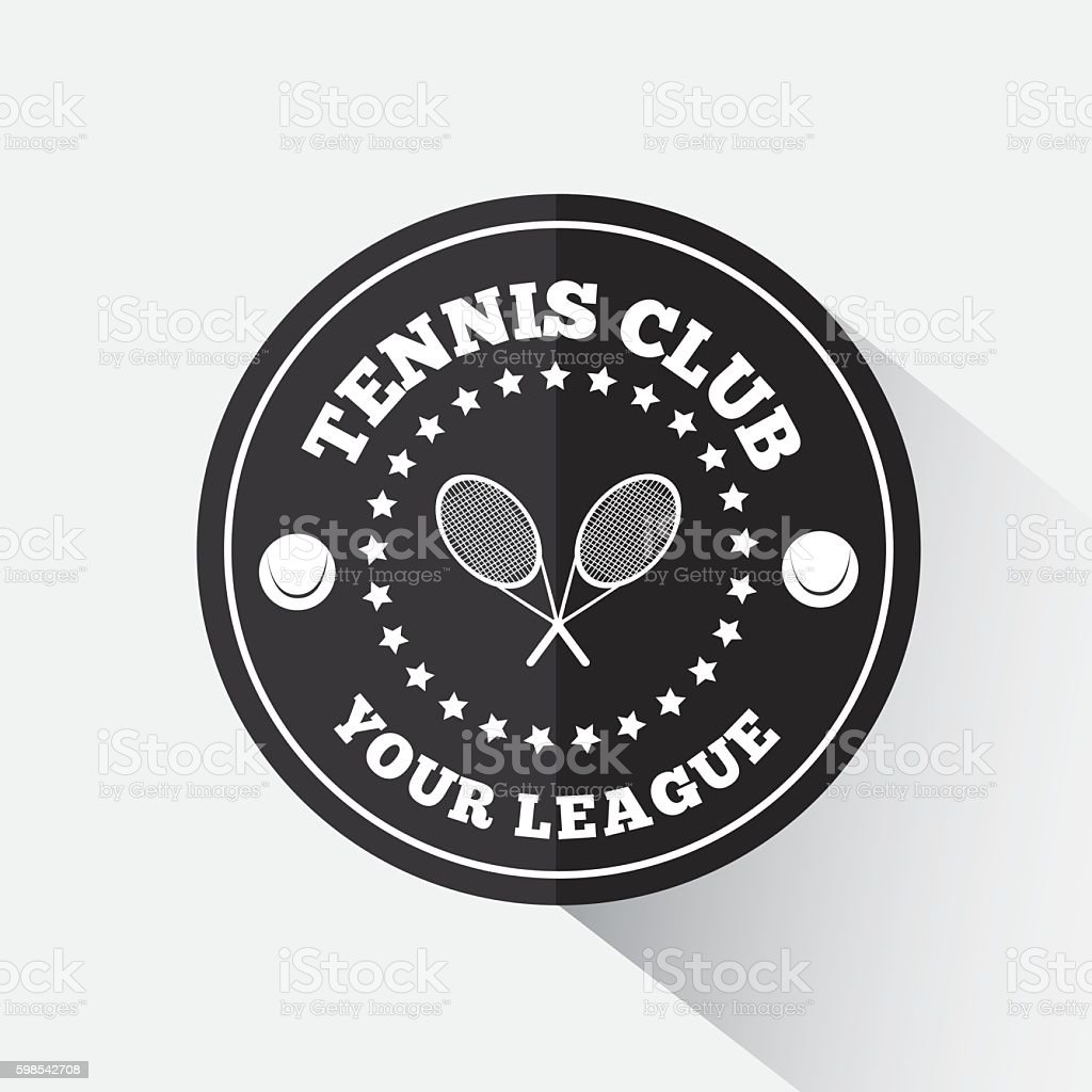 Tennis emblem template tennis emblem template – cliparts vectoriels et plus d'images de armoiries libre de droits