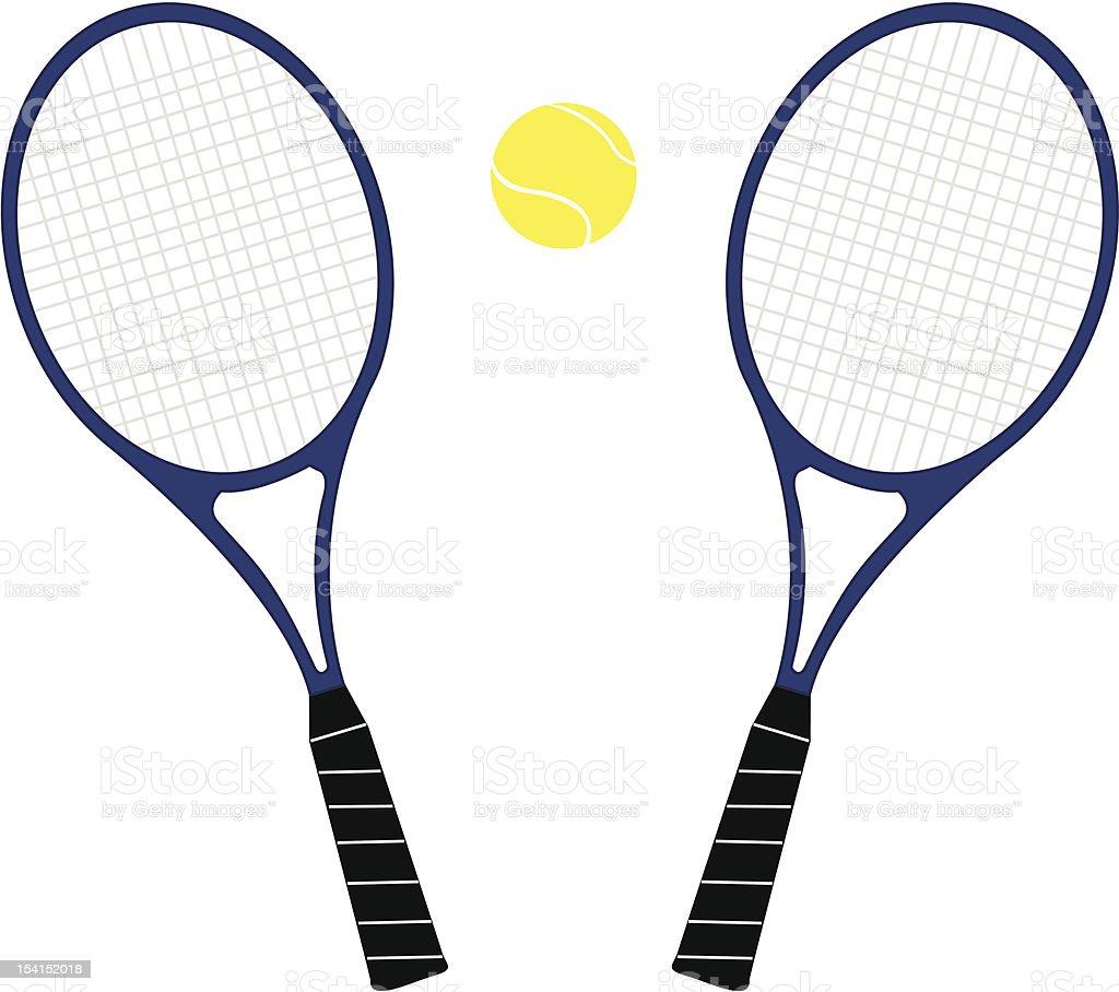 Tennis Equipment royalty-free stock vector art