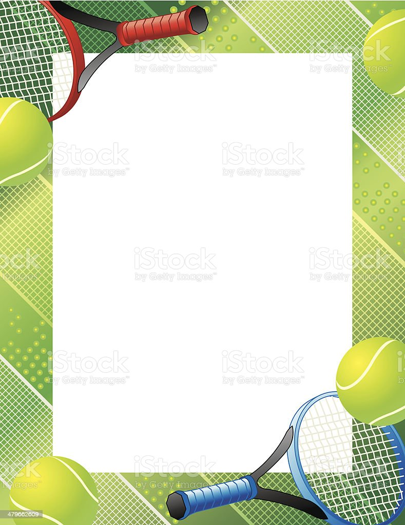 Tennis Frame C vector art illustration