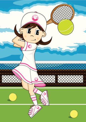 Tennis Girl on Court