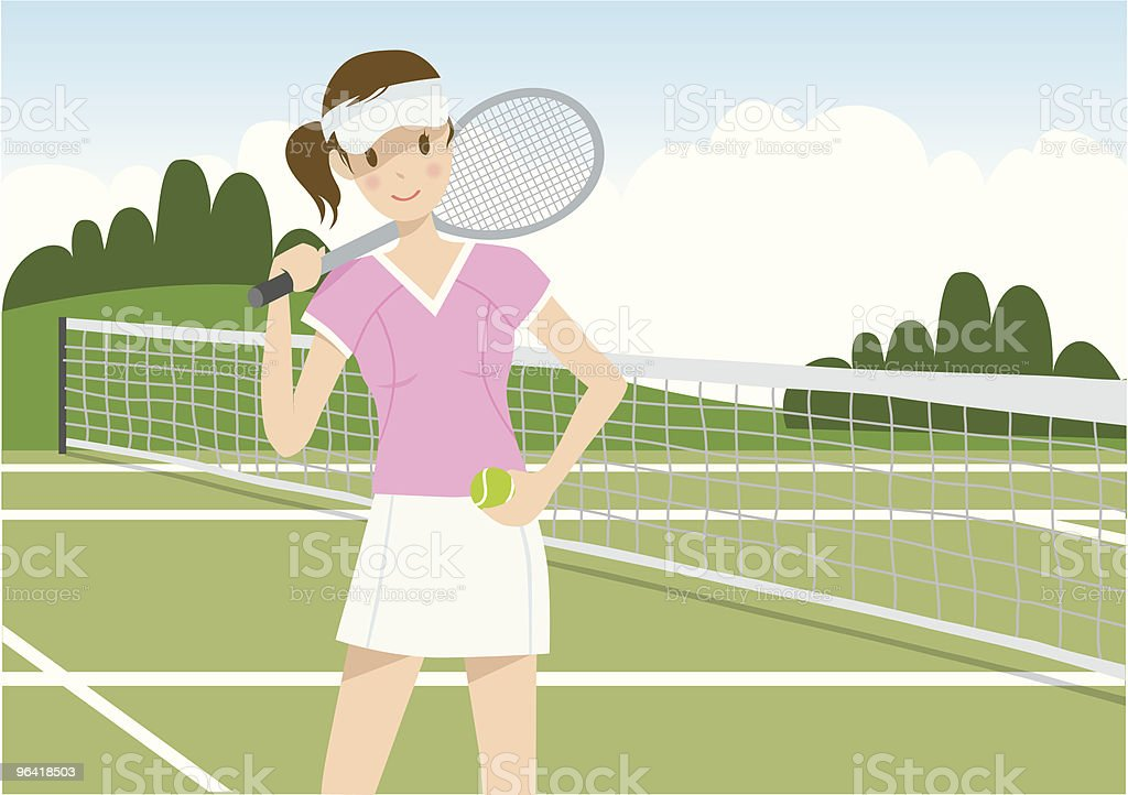 Tennis girl royalty-free tennis girl stock vector art & more images of beautiful people