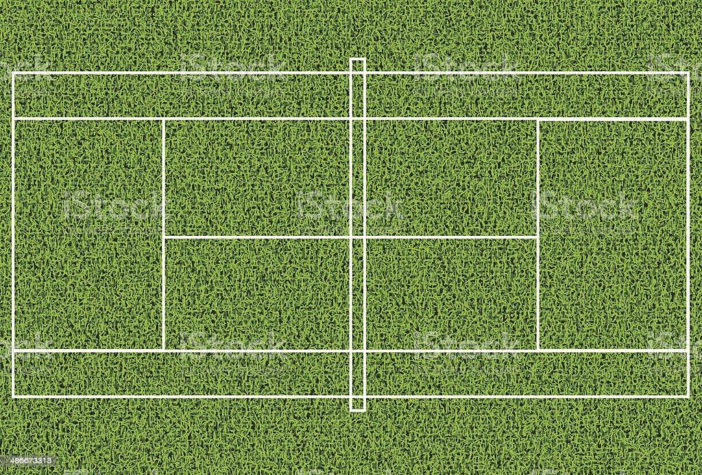 芝生のテニスコート ベクターアートイラスト