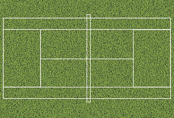 芝生のテニスコート - テニス点のイラスト素材/クリップアート素材/マンガ素材/アイコン素材