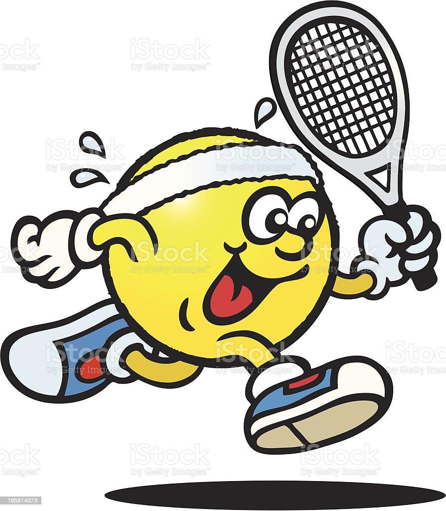 Tennis Guy royalty-free stock vector art
