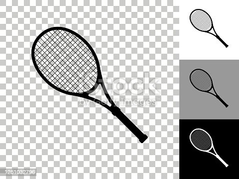 istock Tennis Icon on Checkerboard Transparent Background 1251032796