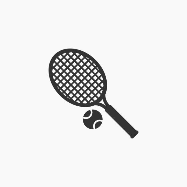 tennis icon - tennis stock illustrations, clip art, cartoons, & icons