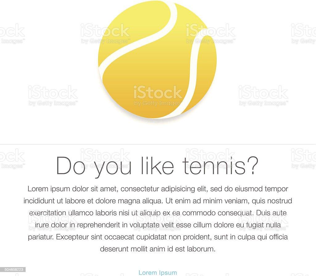 Tennis icon. Yellow tennis ball vector art illustration