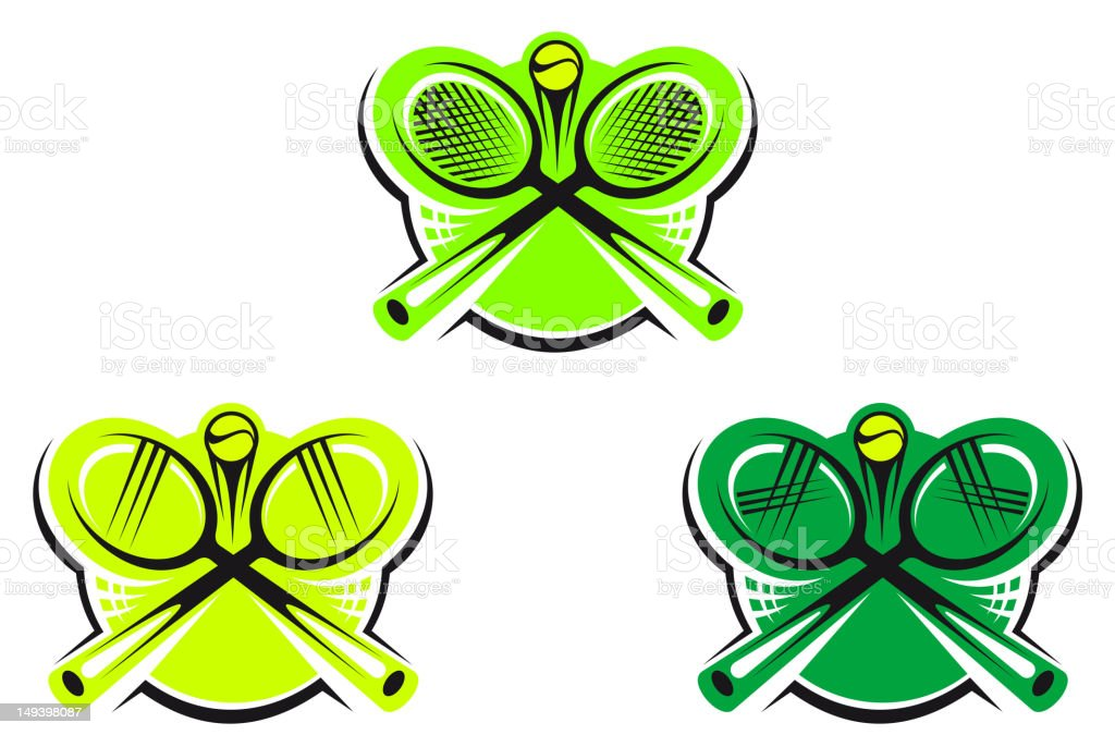 Tennis icons and symbols royalty-free stock vector art