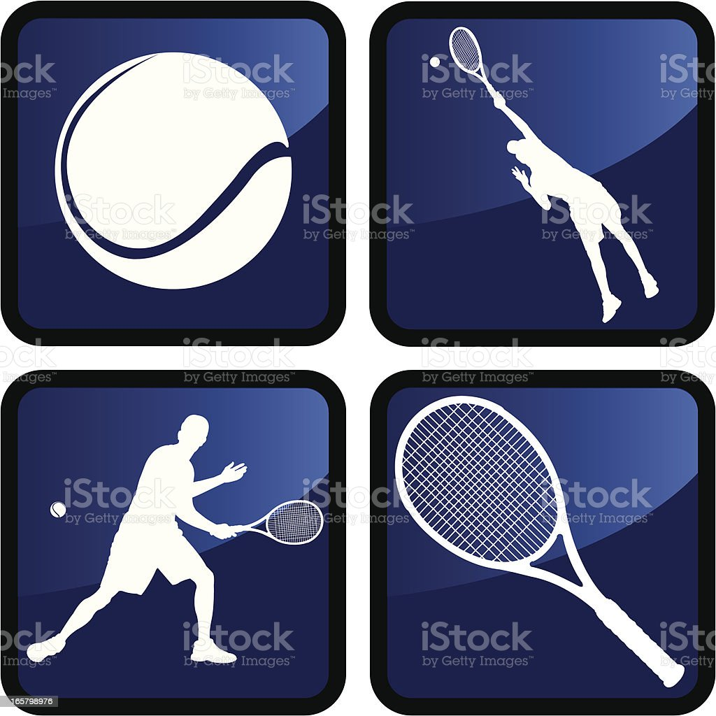 Tennis Icons or Buttons - Male royalty-free tennis icons or buttons male stock vector art & more images of ball
