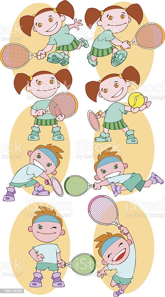 Tennis kids royalty-free stock vector art