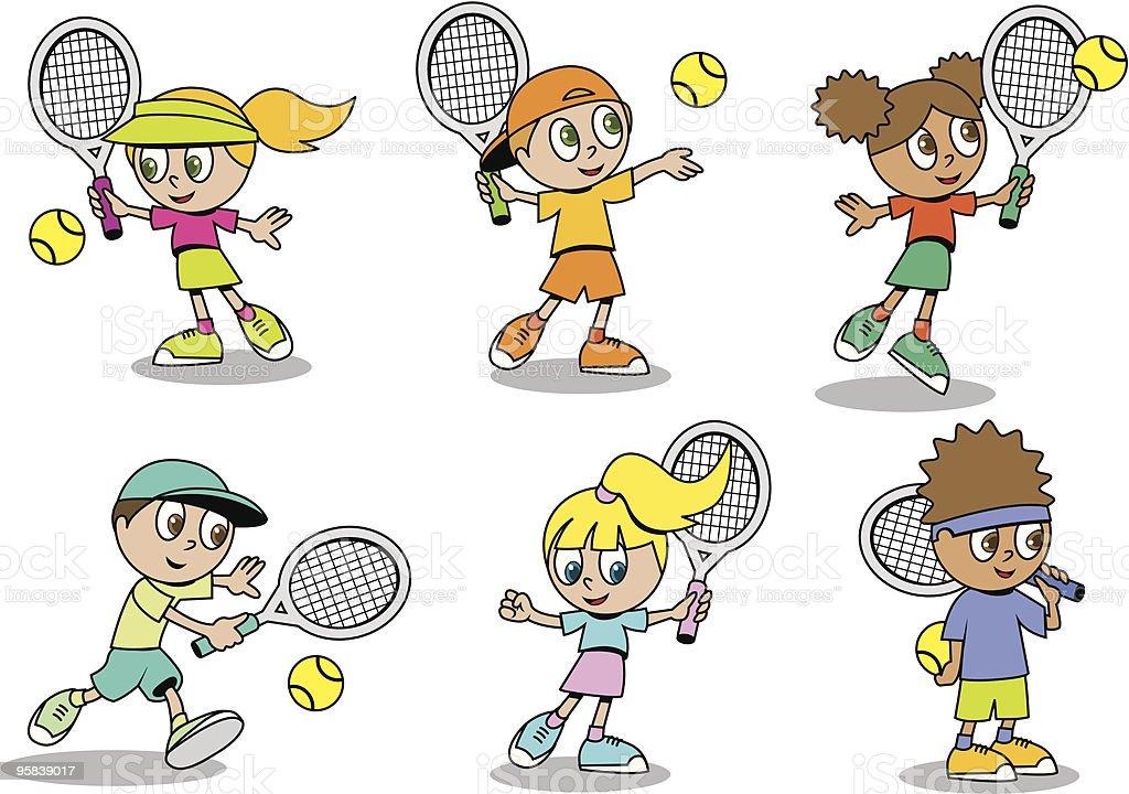 Tennis Kinder Stock Vektor Art und mehr Bilder von Bildung 95839017 ...