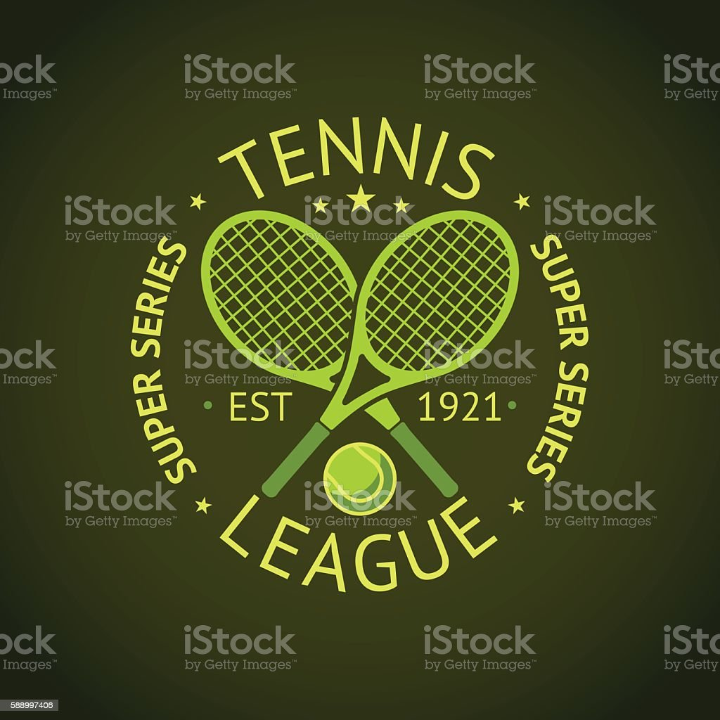 Tennis League super series label badge for your club. Vector vector art illustration